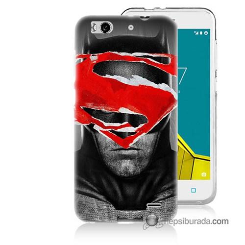 Teknomeg Vodafone Smart 6 Kapak Kılıf Batman Vs Superman Baskılı Silikon
