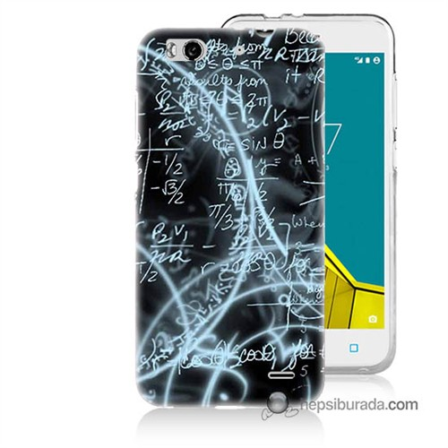 Teknomeg Vodafone Smart 6 Kapak Kılıf Matematik Baskılı Silikon