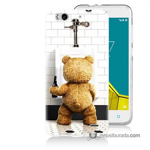 Teknomeg Vodafone Smart 6 Kılıf Kapak Tedy Bear Baskılı Silikon