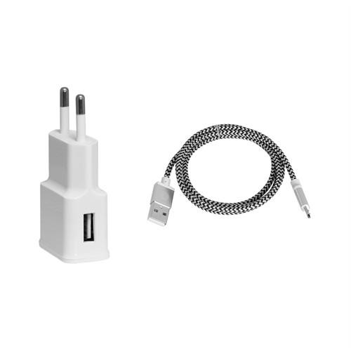 Frisby Seyahat 2 Amper ile Hızlı Şarj Cihazı ve Micro USB Data Kablosu – FA-7530MU