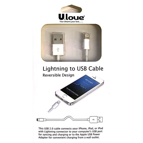 Ulove iPhone 5/6 Şarj ve Data Kablosu - UIC21