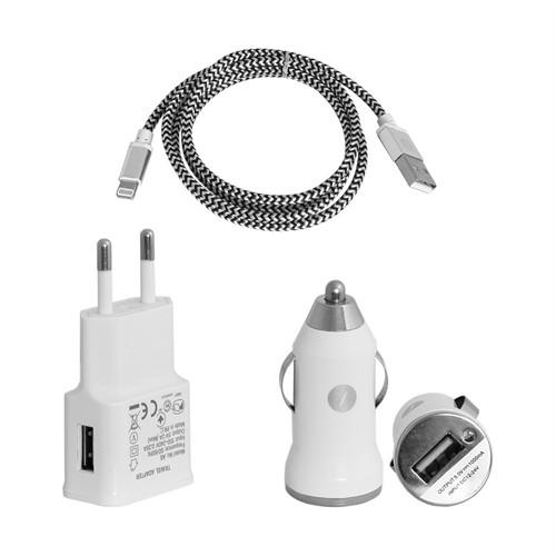 Frisby Çakmak Tipi Araç (1xUSB 5V/1A)#Seyahat 2 Amper ile Hızlı Şarj Cihazı ve iPhone Data kablosu – FA-7538IPU