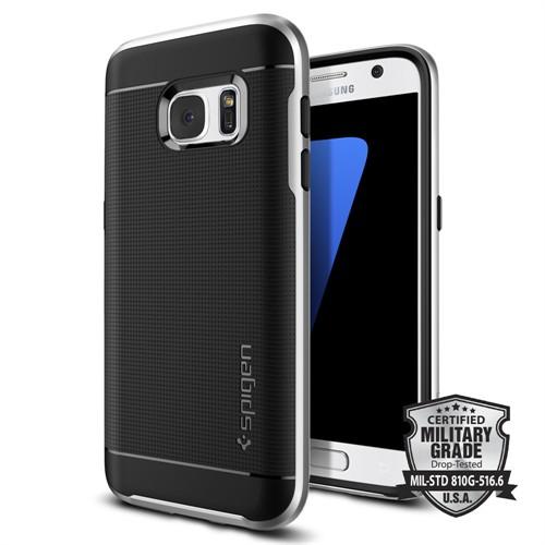 Spigen Galaxy S7 Kılıf Neo Hybrid - Satin Silver - 555CS20142