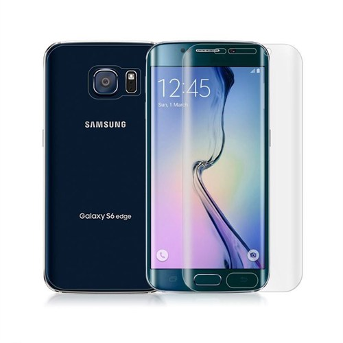Teleplus Galaxy S6 Edge Plus Kavis Kısmı Dahil Darbeye Dayanıklı Ekran Koruyucu