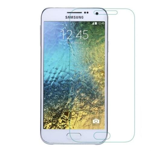 Teleplus Samsung Galaxy E5 Plastik Ve Cam Karışımı Kırılmaz Ekran Koruyucu