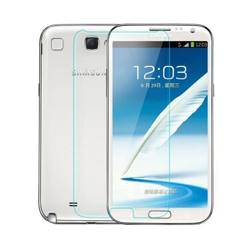 Teleplus Samsung Galaxy Note 2 Plastik Ve Cam Karışımı Kırılmaz Ekran Koruyucu