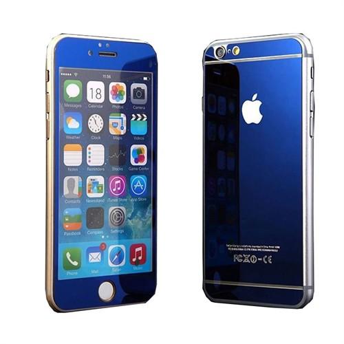 Teleplus İphone 6S Renkli Kırılmaz Cam Ekran Koruyucu Mavi