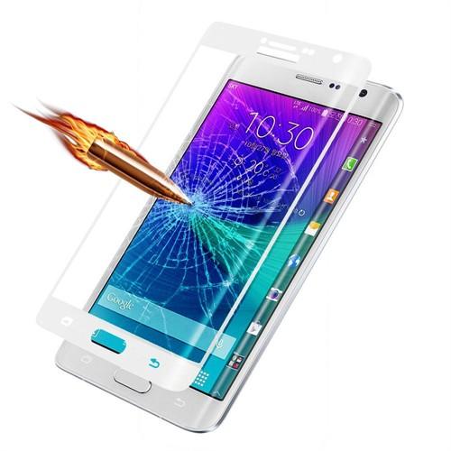 Teleplus Galaxy Note Edge Cam Kavis Kısmı Dahil Full Koruma Beyaz