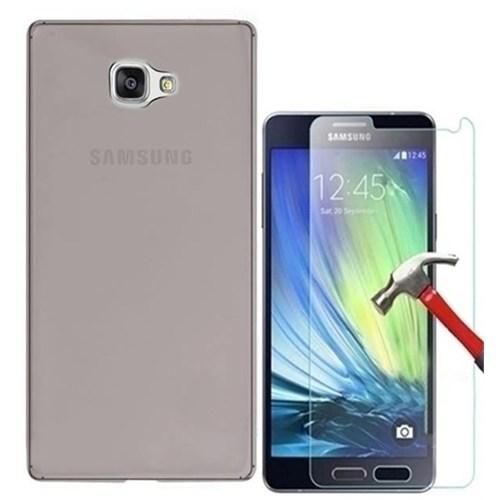 Kılıfshop Samsung Galaxy A5 2016 360° Tam Koruma Mika Kılıf + Kırılmaz Cam Ekran Koruyucu