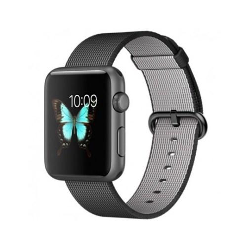Apple Watch 42mm Uzay Grisi Alüminyum Kasa ve Siyah/Naylon Örme Kordon MMFR2TU/A