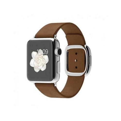 Apple Watch 38 Mm Paslanmaz Çelik Kasa Modern Tokalı Kahverengi Kayış Mj3c2tu/A (Medium) Akıllı Saat