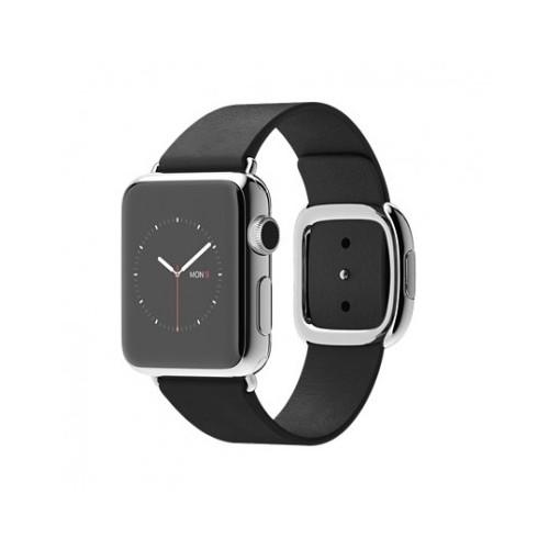 Apple Watch 38 Mm Paslanmaz Çelik Kasa Modern Tokalı Siyah Kayış Mjyl2tu/A (Medium) Akıllı Saat