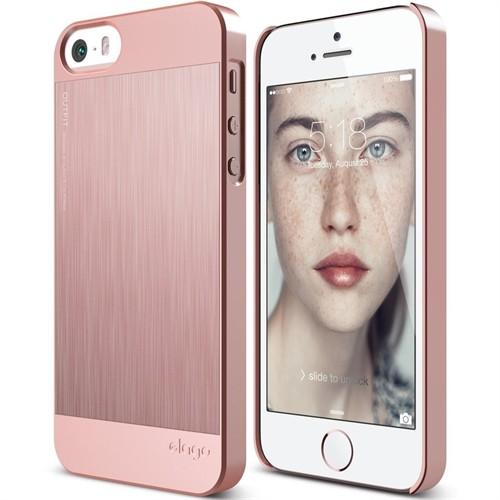 Elago Apple İphone Se 5 5S Kılıf Outfit Rose Gold