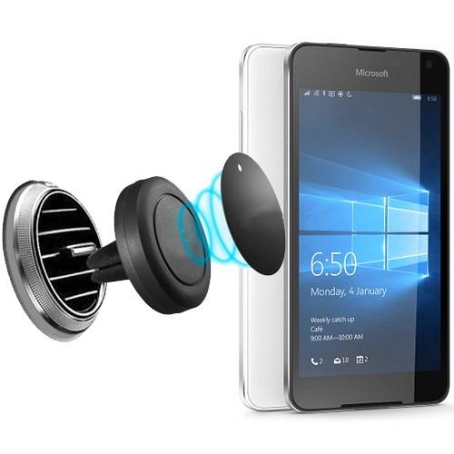 Lopard Microsoft Lumia 650 Kılıf - Kapak İçi Mıknatıslı Araç Tutucu Magnet Slim Telefon Tutucu