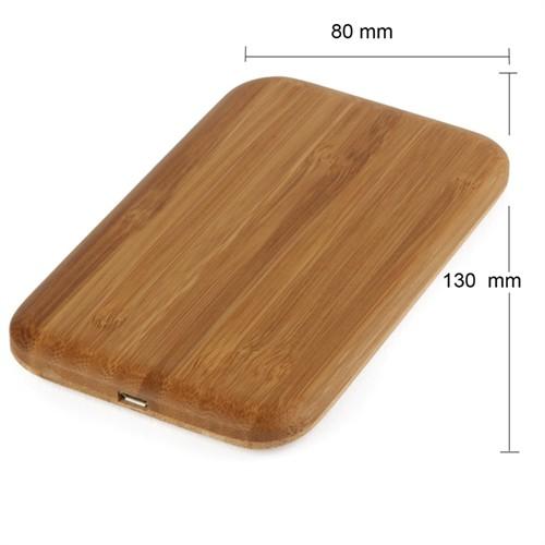 Maxfıeld Wıreless Chargıng Pad Bamboo Sıngle