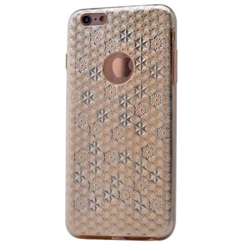 Teleplus İphone 6 Desenli Silikon Kılıf Gold