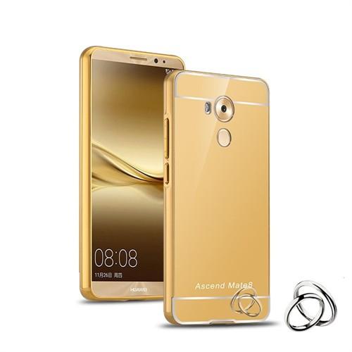 Teleplus Huawei Mate 8 Aynalı Metal Kapak Kılıf Gold