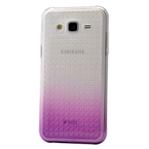 Teleplus Samsung Galaxy J7 Çift Renkli Silikon Kılıf Lila