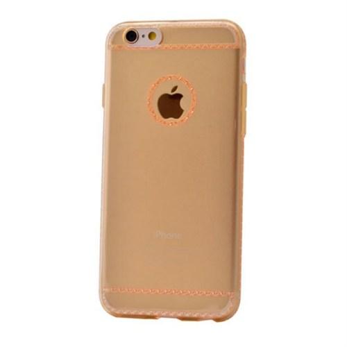 Teleplus İphone 6S Plus Dikişli Silikon Kılıf Gold