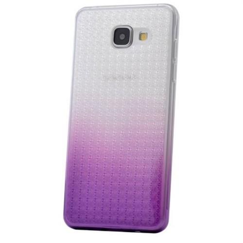 Teleplus Samsung Galaxy A7 2016 Çift Renkli Silikon Kılıf Lila