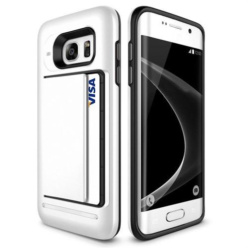 Teleplus Samsung Galaxy S7 Çift Koruma Cüzdanlı Kapak Kılıf Beyaz