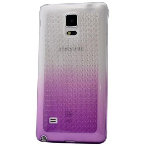 Teleplus Samsung Galaxy Note 4 Çift Renkli Silikon Kılıf Lila
