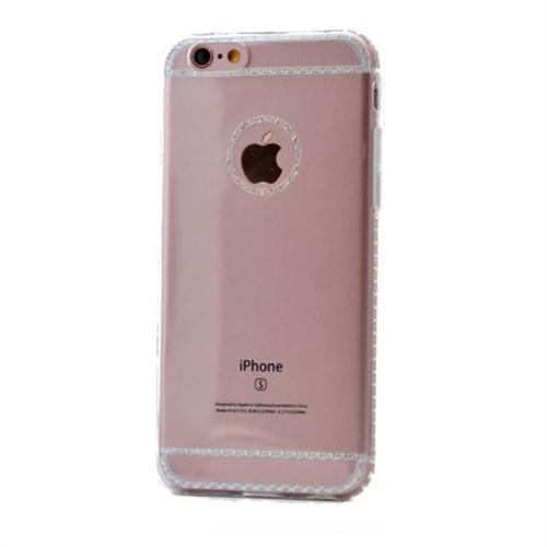 Teleplus İphone 6S Dikişli Silikon Kılıf Şeffaf