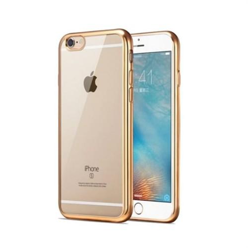 Teleplus İphone 6 Lazer Silikon Kılıf Gold