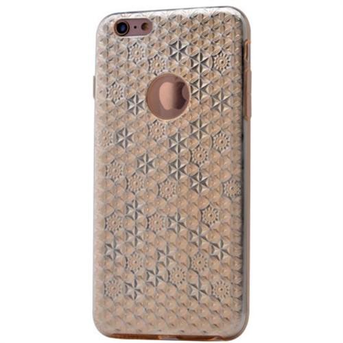 Teleplus İphone 6S Desenli Silikon Kılıf Gold