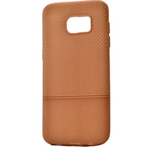Teleplus Samsung Galaxy S7 Edge Benekli Silikon Kılıf Gold