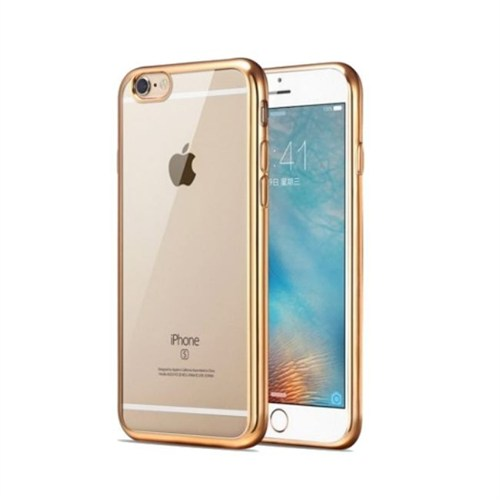 Teleplus İphone 6 Plus Lazer Silikon Kılıf Gold