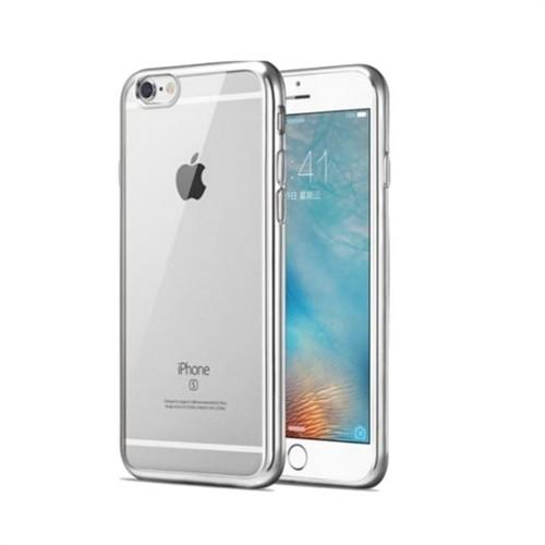 Teleplus İphone 6 Plus Lazer Silikon Kılıf Gümüş