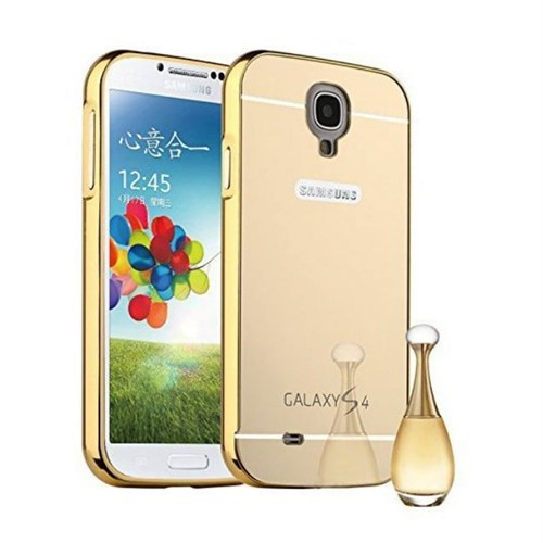 Teleplus Samsung Galaxy S4 Aynalı Metal Kapak Kılıf Gold