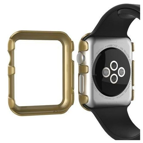 Markacase Apple Watch 42 Mm Gold Kılıf Sert İnce Rubber