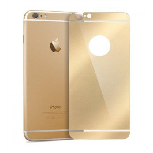 Cyber Apple iPhone 6 6S Plus Gold Aynalı Ekran Koruyucu Cam Ön-Arka