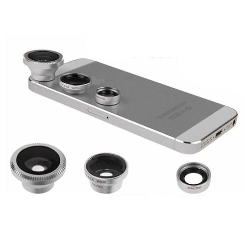 Microsace Üniversal Balık Gözü Geniş Macro Çekim Lens Seti