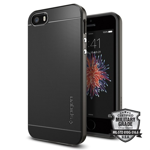 Spigen iPhone Se/5S/5 Kılıf Neo Hybrid Gun Metal