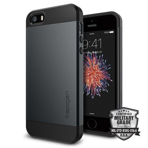 Spigen iPhone Se/5S/5 Kılıf Slim Armor Metal Slate