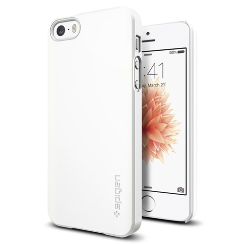 Spigen Apple iPhone Se/5S/5 Kılıf Thin Fit Beyaz