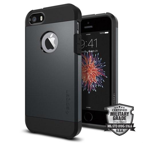 Spigen iPhone Se/5S/5 Kılıf Tough Armor Metal Slate Darbelere Karşı Koruma