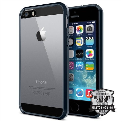 Spigen iPhone Se/5S/5 Kılıf Ultra Hybrid Metal Slate