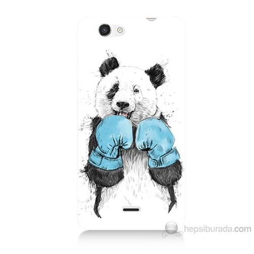 Teknomeg Casper Via V8C Boksör Panda Baskılı Silikon Kılıf