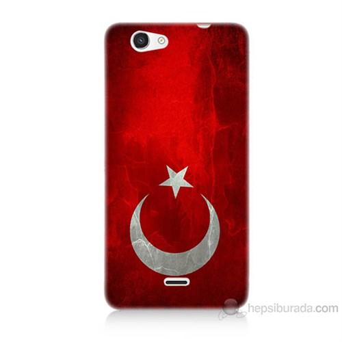Teknomeg Casper Via V8C Türkiye Bayrağı Baskılı Silikon Kılıf