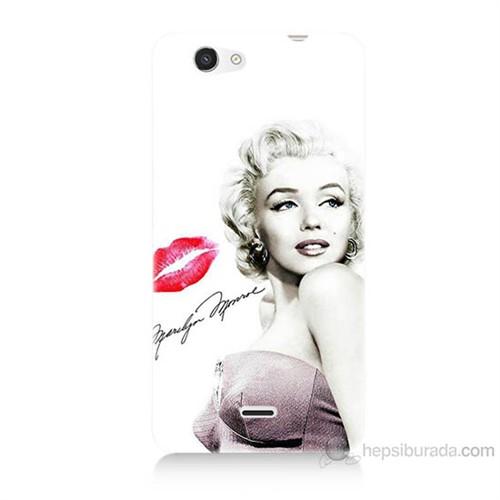 Teknomeg Casper Via V8C Marilyn Monroe Baskılı Silikon Kılıf