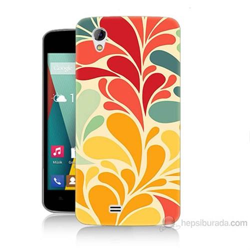 Teknomeg General Mobile Discovery 2 Mini Çiçekler Baskılı Silikon Kılıf