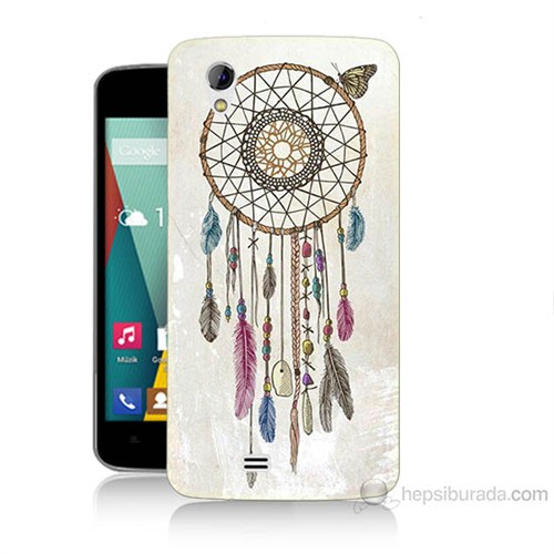 Teknomeg General Mobile Discovery 2 Mini Dream Catcher Baskılı Silikon Kılıf