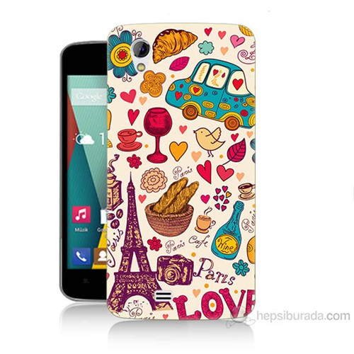 Teknomeg General Mobile Discovery 2 Mini Paris Love Baskılı Silikon Kılıf