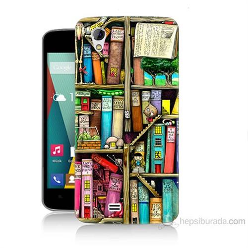 Teknomeg General Mobile Discovery 2 Mini Kitaplık Baskılı Silikon Kılıf