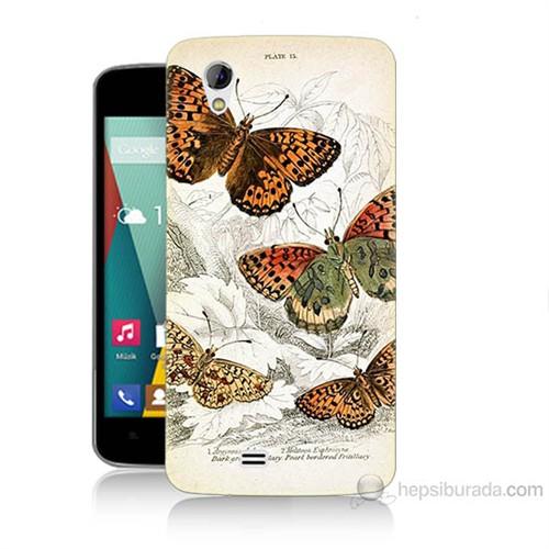 Teknomeg General Mobile Discovery 2 Mini Kelebekler Baskılı Silikon Kılıf