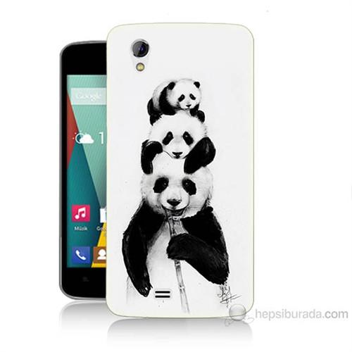 Teknomeg General Mobile Discovery 2 Mini Panda Ailesi Baskılı Silikon Kılıf
